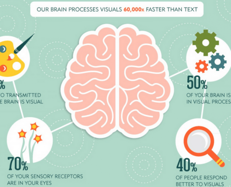 Infographic—Our brain processes visuals 60,000x faster than text.