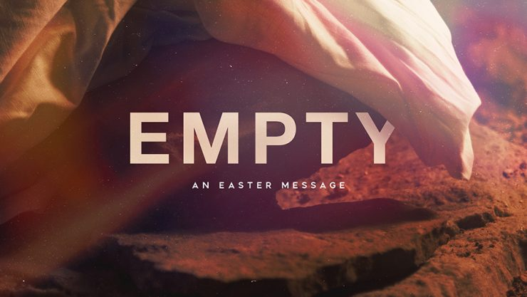 Empty Easter Sunday Sermon Graphic