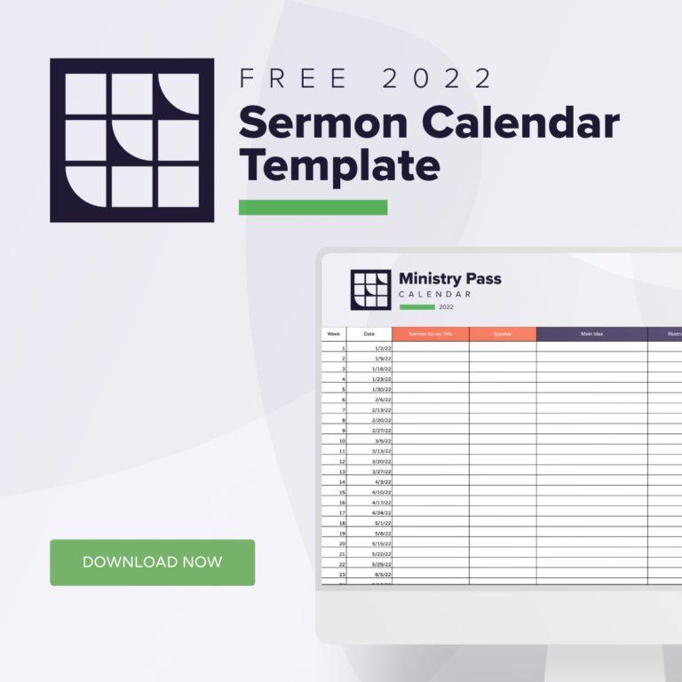 Ministry Pass Sermon Calendar Template