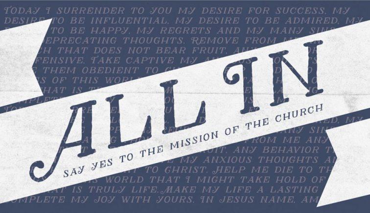 All In Sermon Series Idea