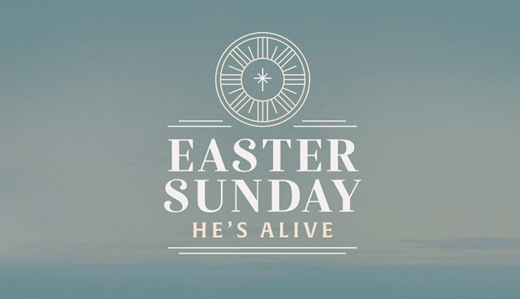 Easter Sunday: He's Alive Easter Sermon Graphic