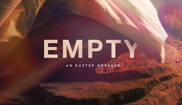 Empty Easter Sunday Sermon Graphic