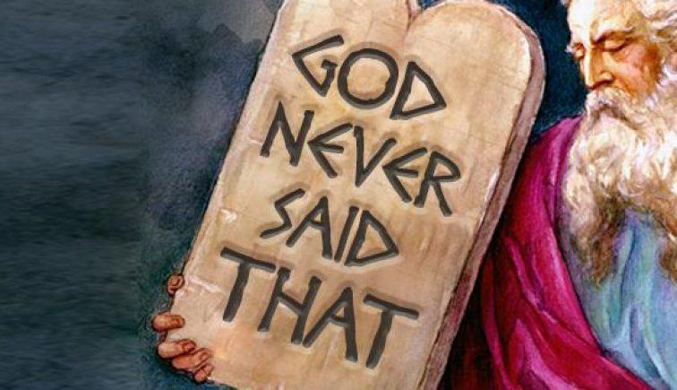 God Never Said that Sermon Series Idea