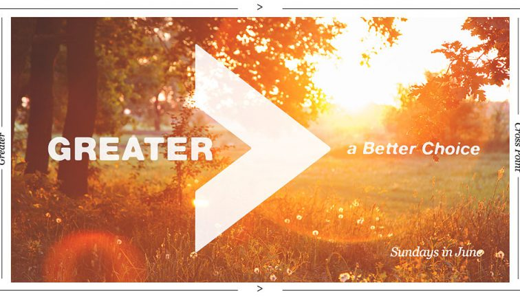 Greater Sermon Series Idea