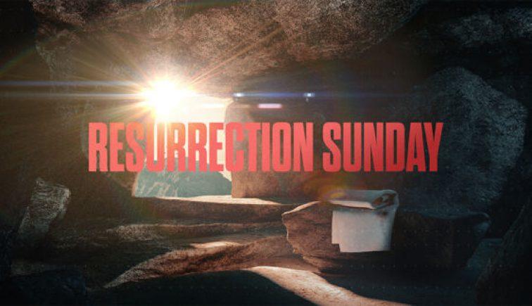 Resurrection Sunday Easter Sermon Graphic