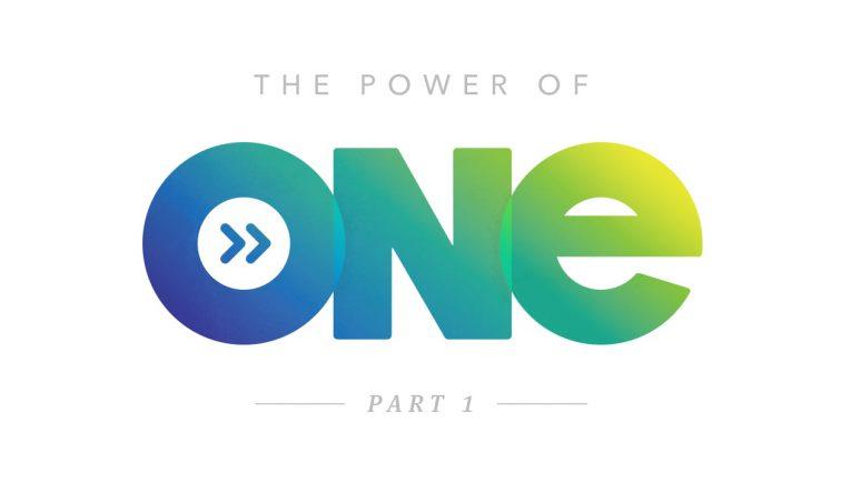 The Power of One Sermon Series Idea
